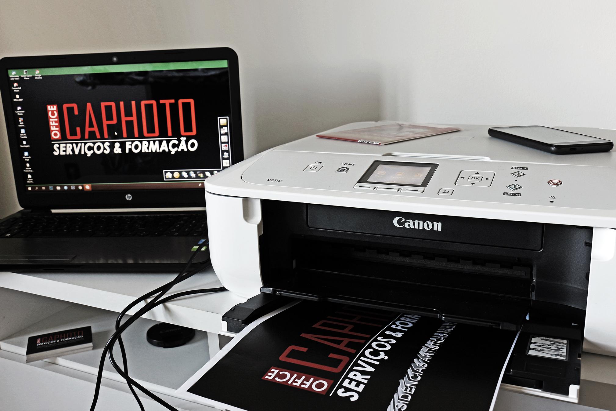 Estúdio Office CAPhoto dispõe de impressora fotográfica CANON Pixma